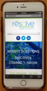 Responsive website on cell phone
